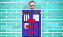 Doctor Who Tardis I love DR Who Two Hearts Art - Wall Art Print Poster Pick A Size  - TV Art Geekery